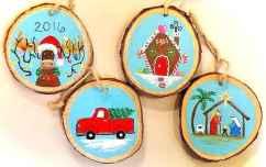 0058 Rustic DIY Wooden Christmas Ornaments Ideas