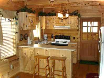 46 Small Cabin Cottage Kitchen Ideas12