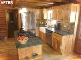 46 Small Cabin Cottage Kitchen Ideas14
