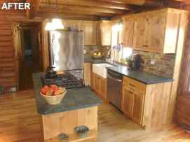 46 Small Cabin Cottage Kitchen Ideas14