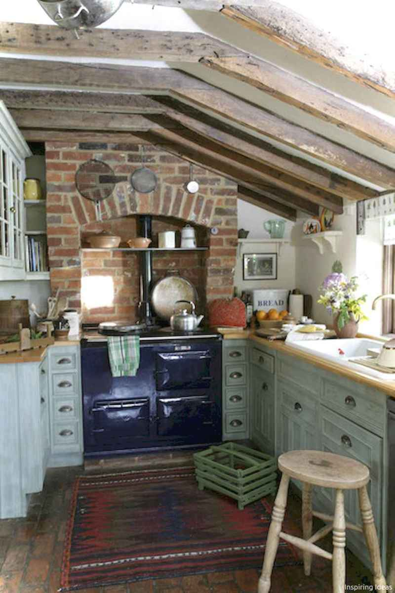 46 Small Cabin Cottage Kitchen Ideas23
