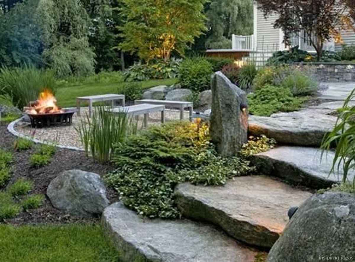 110 Fabulous Gravel Patio Ideas with Fire Pits 106