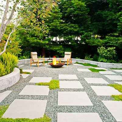110 Fabulous Gravel Patio Ideas with Fire Pits 39