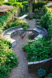 110 Fabulous Gravel Patio Ideas with Fire Pits 62
