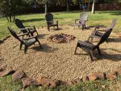 110 Fabulous Gravel Patio Ideas with Fire Pits 96