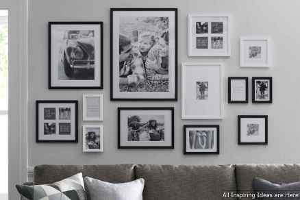 Creative Gallery Wall Ideas 19 for Living Room