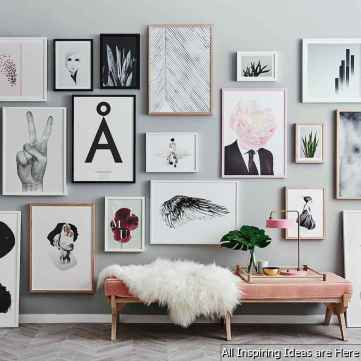 Creative Gallery Wall Ideas 34 for Living Room