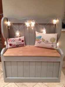 Rustic DIY Storage Bench Ideas 04