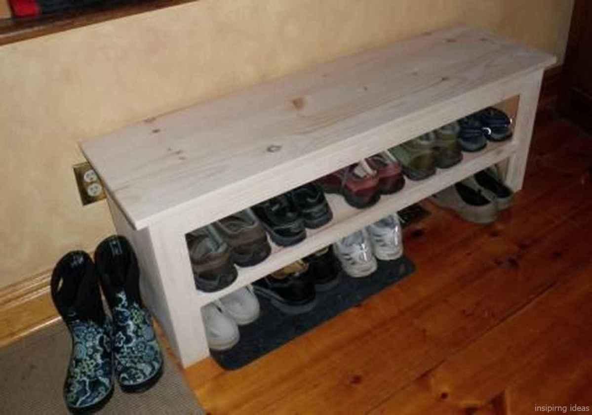 Rustic DIY Storage Bench Ideas 06