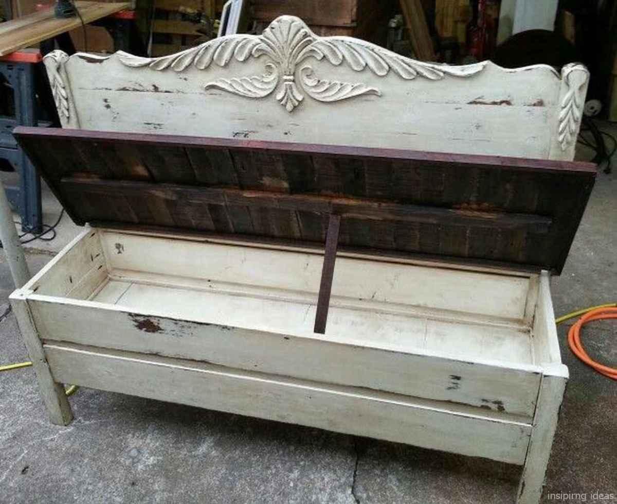 Rustic DIY Storage Bench Ideas 21