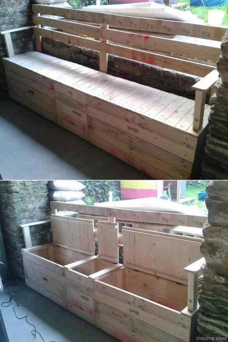 Rustic DIY Storage Bench Ideas 40