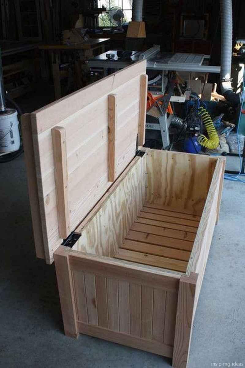 Rustic DIY Storage Bench Ideas 60