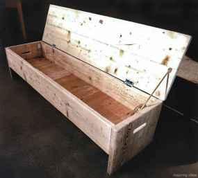 Rustic DIY Storage Bench Ideas 79