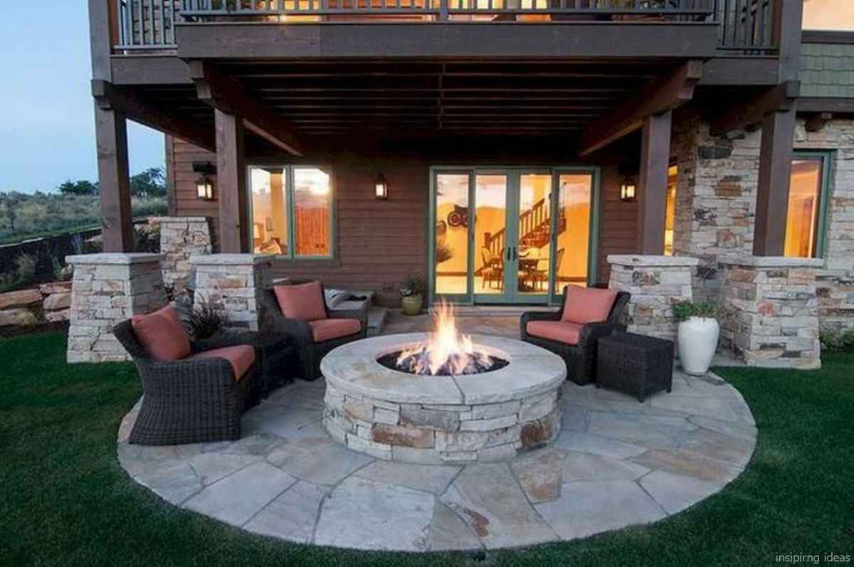 100+ Cheap Backyard Fire Pits Design 61