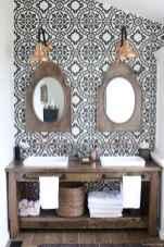 77 Fabulous Modern Farmhouse Bathroom Tile Ideas 56