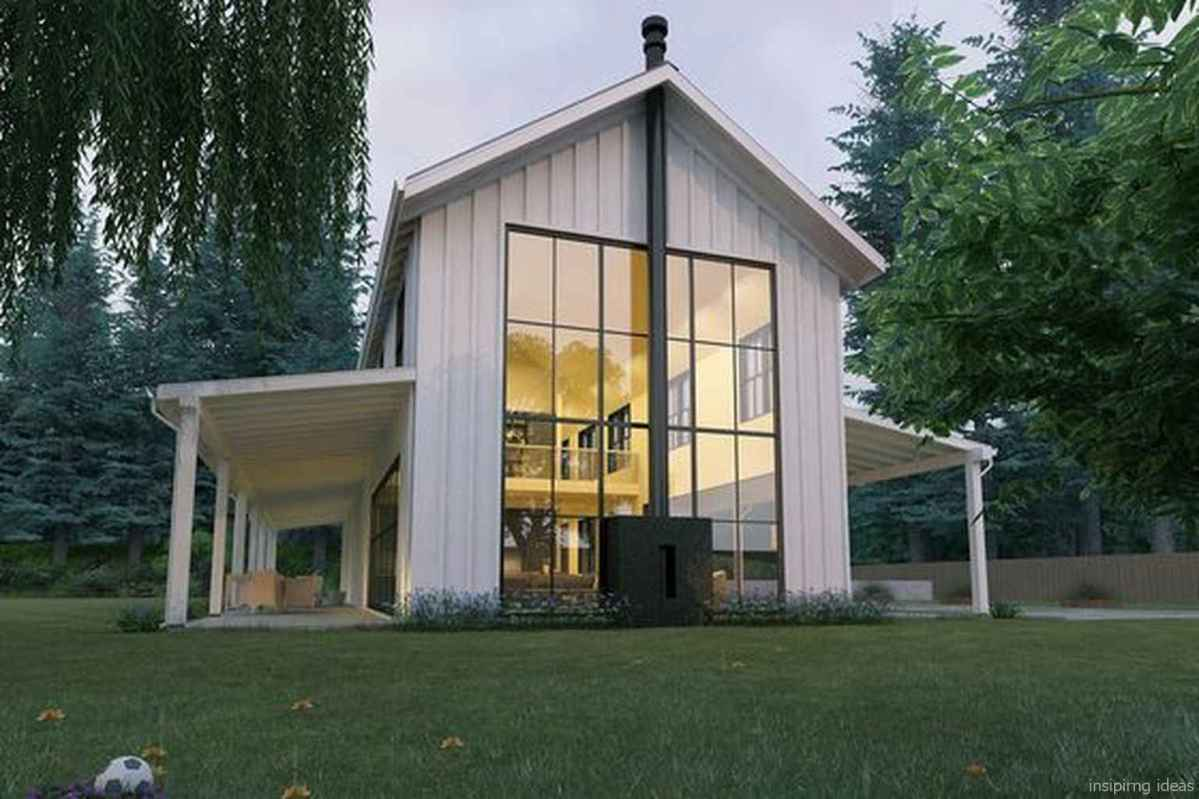 Simple Modern Farmhouse Exterior Design Ideas 34