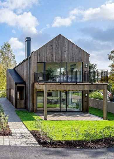Simple Modern Farmhouse Exterior Design Ideas 41