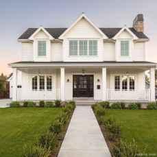 Simple Modern Farmhouse Exterior Design Ideas 60