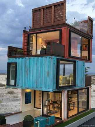 08 Unique Container House Interior Design Ideas