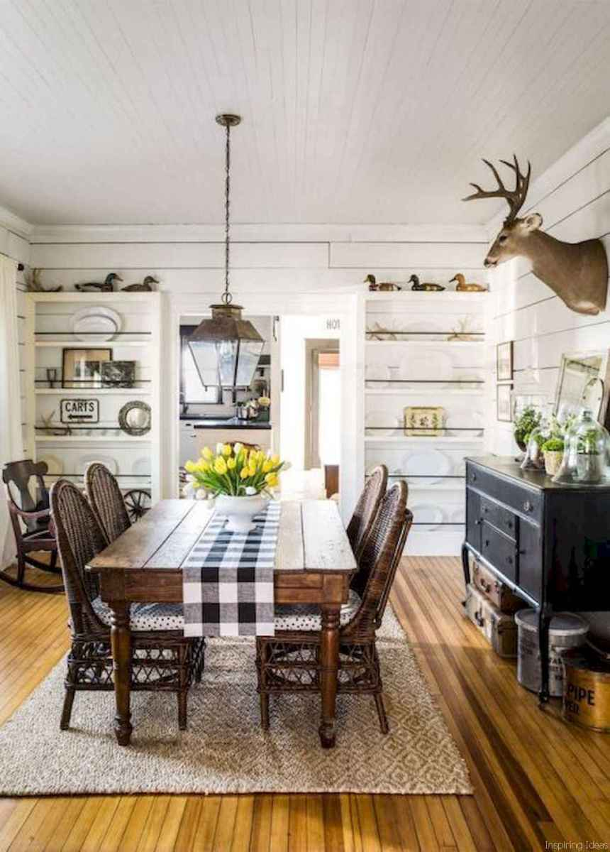 47 Beautiful Modern Farmhouse Dining Room Decor Ideas