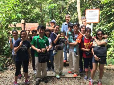 Guides and participants of Petai Trail Walks with BES Drongos. Photos by BES Drongos.