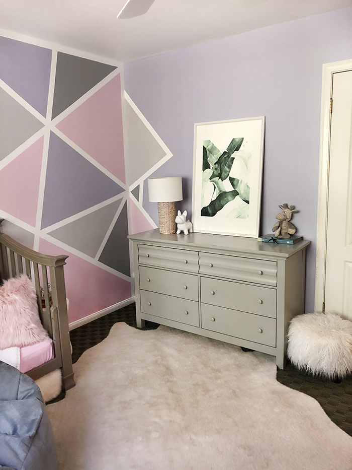 Home Decor Geometric Accent Painted Wall Girl S Room Love Maegan
