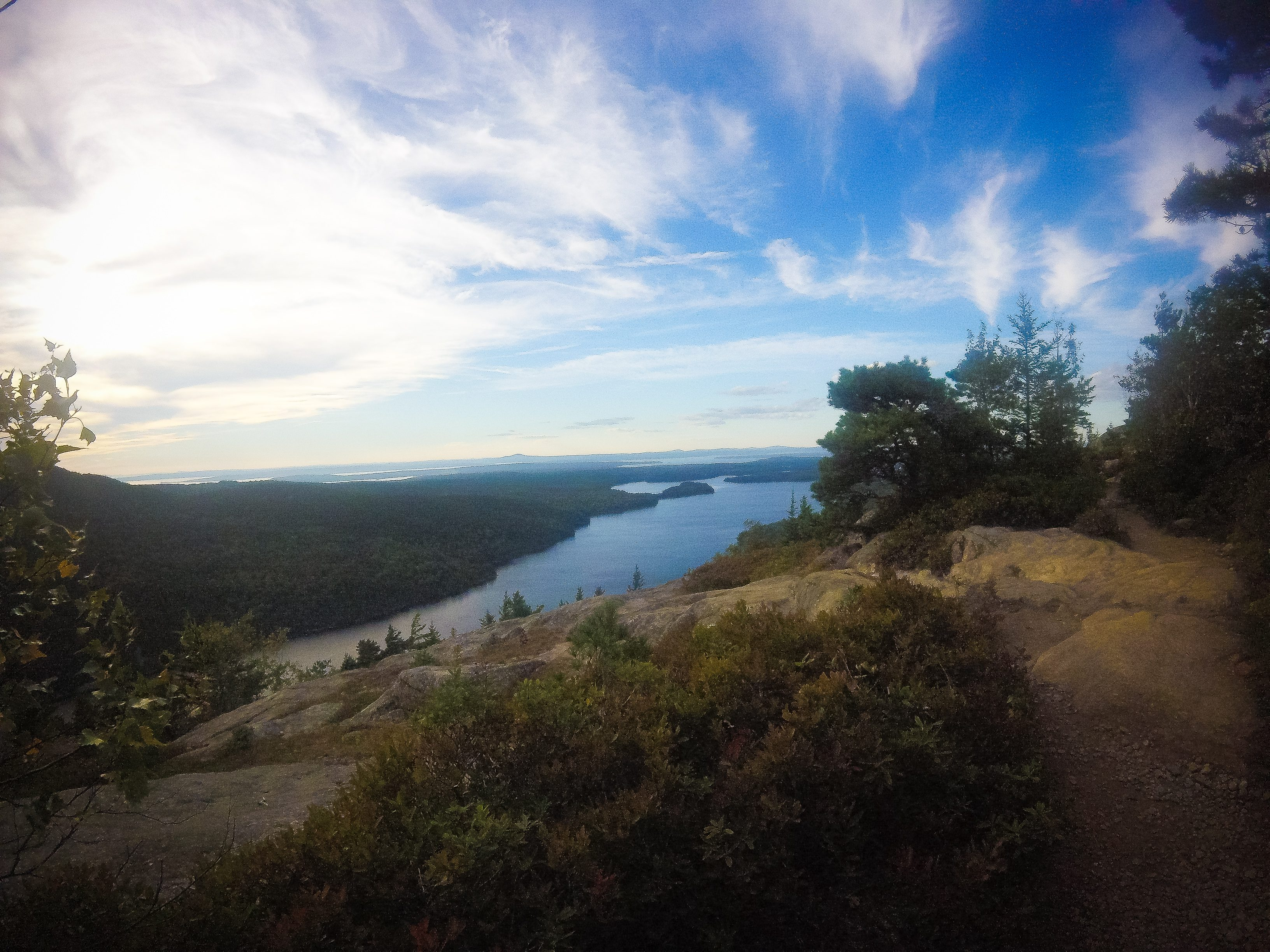 Hiking Beech Mountain in Acadia National Park