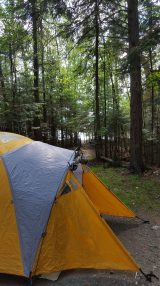 Tent with walk to the beach