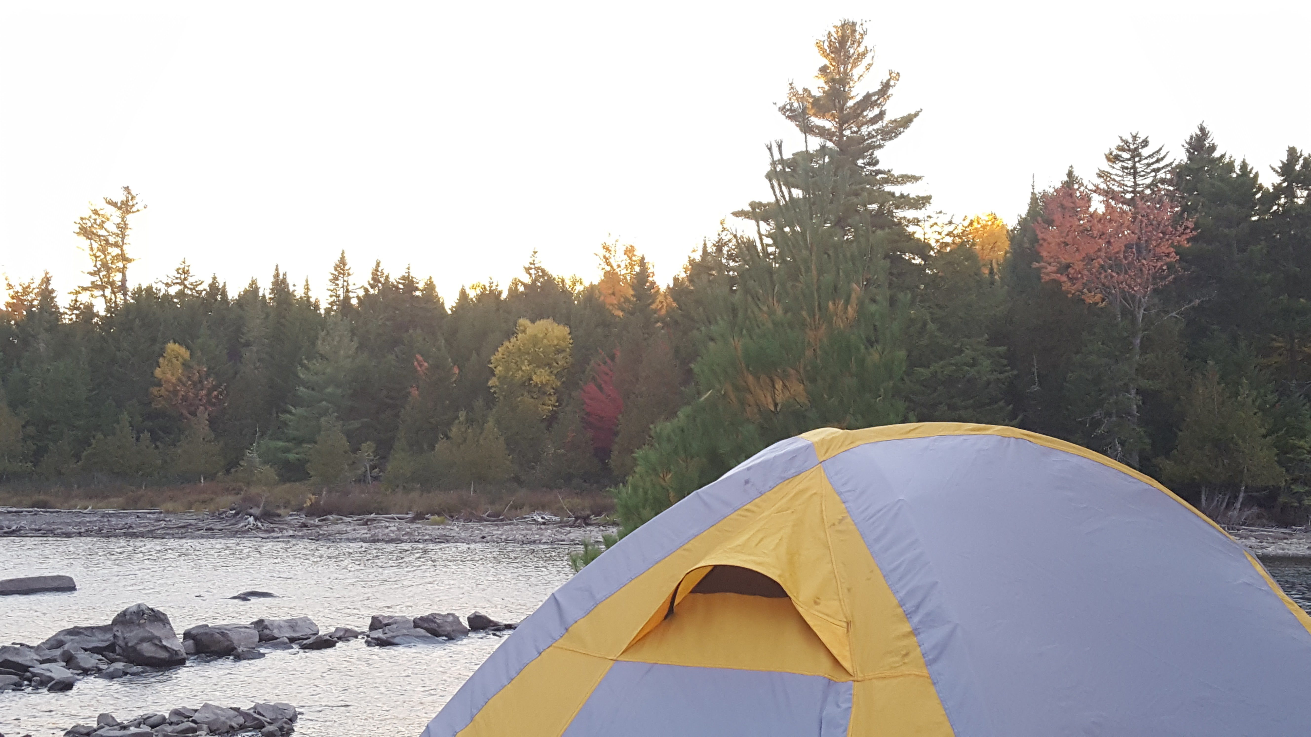 Mud Brook Camp Site in Lily Bay State Park