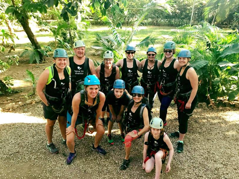 Main Yoga Adventures ziplining in Costa Rica