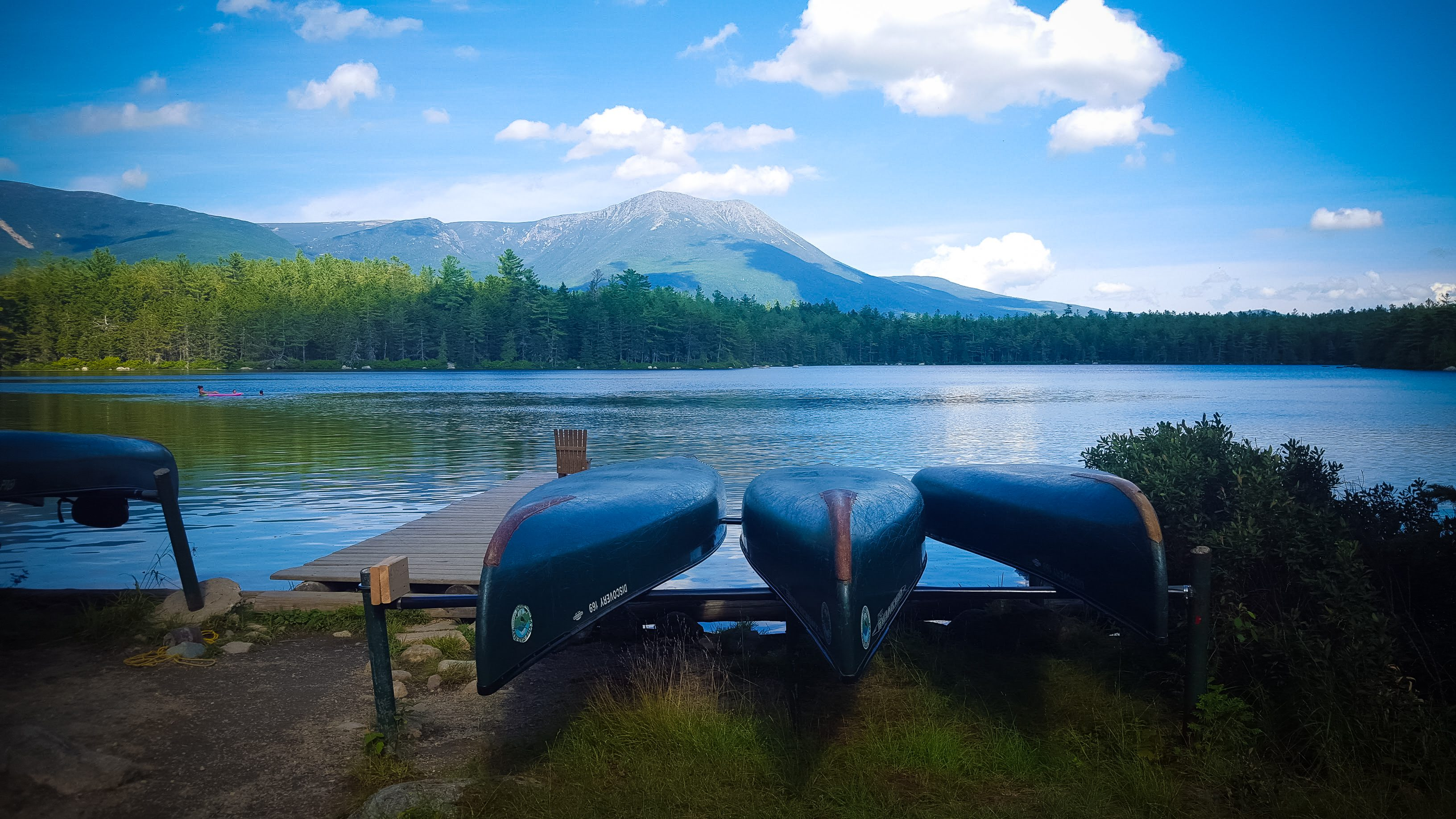 Canoeing on Daicey Pond in Baxter State Park