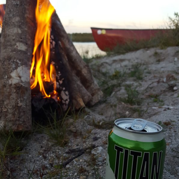 beer on a beach in maine