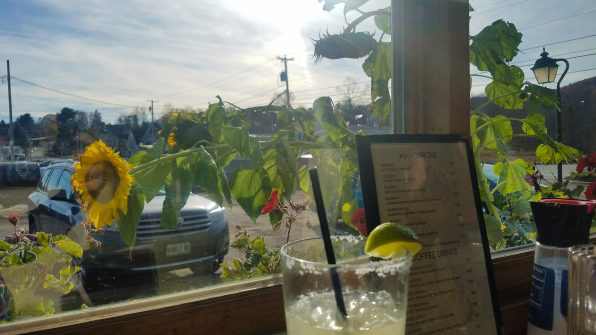 Whale's Tooth Pub Lincolnville Maine, casual waterfront dining, margarita