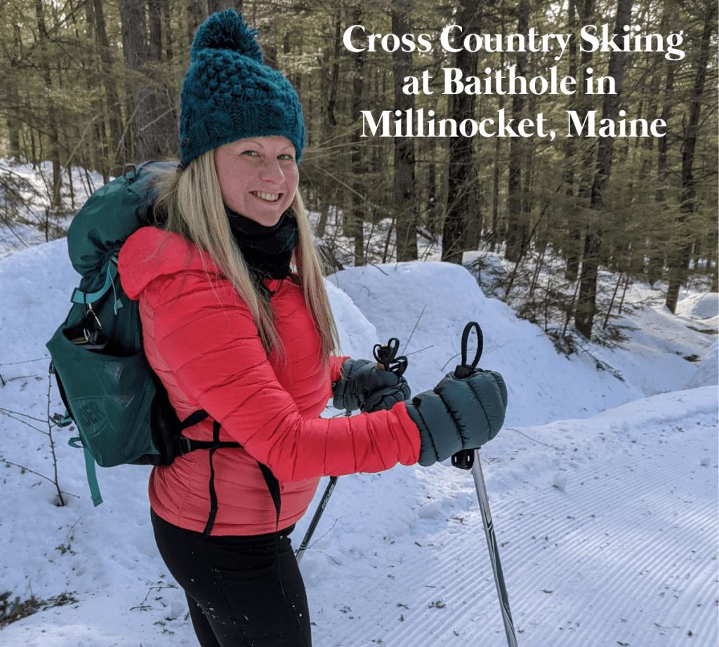 Cross Country Skiing at Baithole in Millinocket, Maine