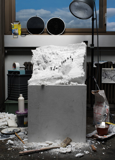 "Making of ""Mont Blanc: la Jonction."" Image credit: ohneitel"