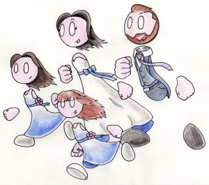 love make share art commissions cartoon caricature cute