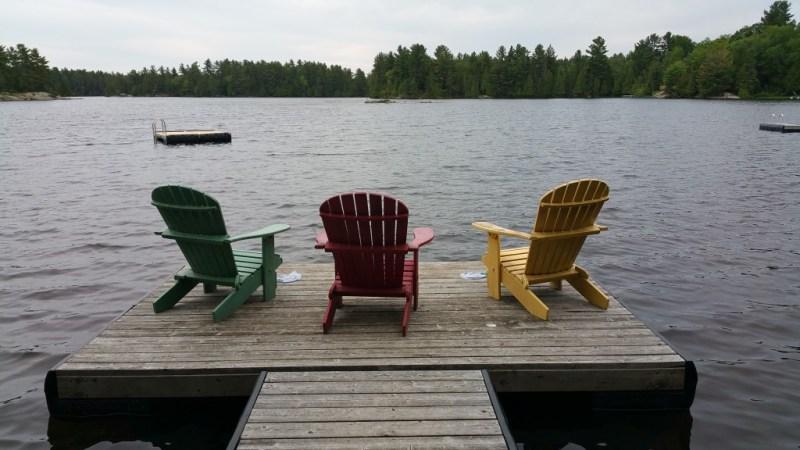 cottage dock adirondack chairs