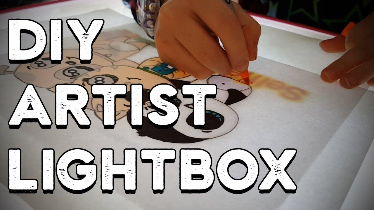 DIY Artist Lightbox from Scraps