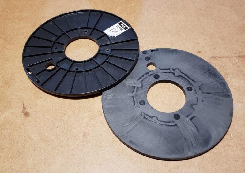 deconstructed filament spool