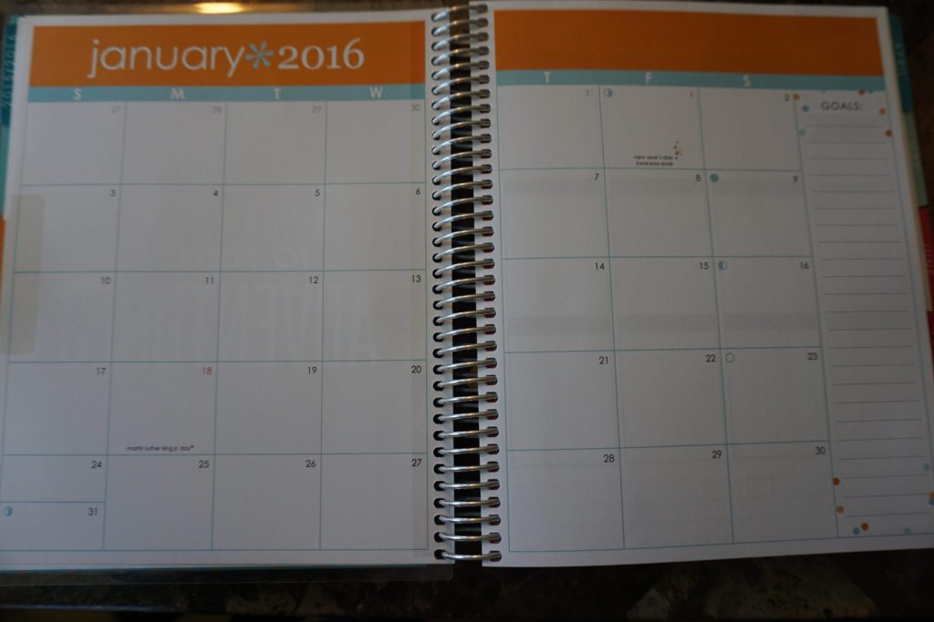 Monthly view of the Erin Condren Life Planner. A great way to track your bills and pay them on time!