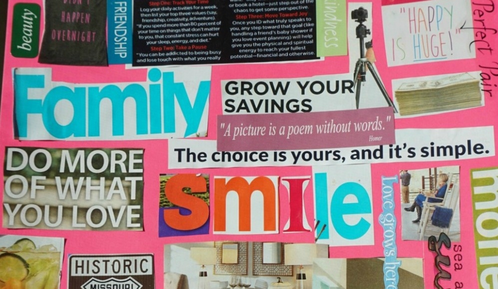 What is A Vision Board? And How to Make One with Your Family