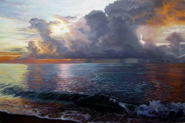 Sunrise and the Ocean (2012) 24x36 inches Commissioned/SOLD