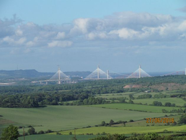 View of the new Forth Bridge from Beecraigs Country Park