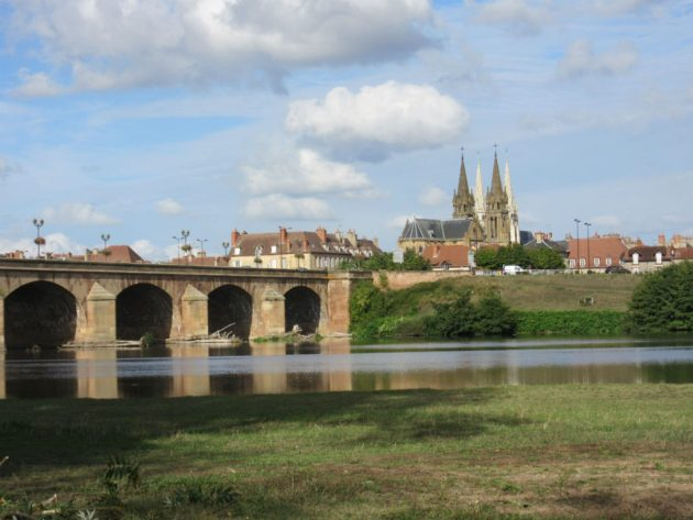 View from the Aire into Moulins