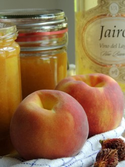 Fersken-hvidvin-vanille marmelade