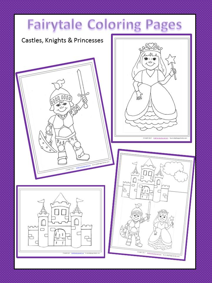 castles knights and princess free printable coloring pages