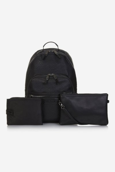 Tiba and Marl Elwood Backpack (faux leather) (black/gunmetal)