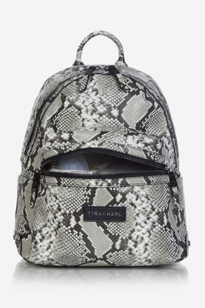 Tiba and Marl Miller Backpack (tonal snake print)