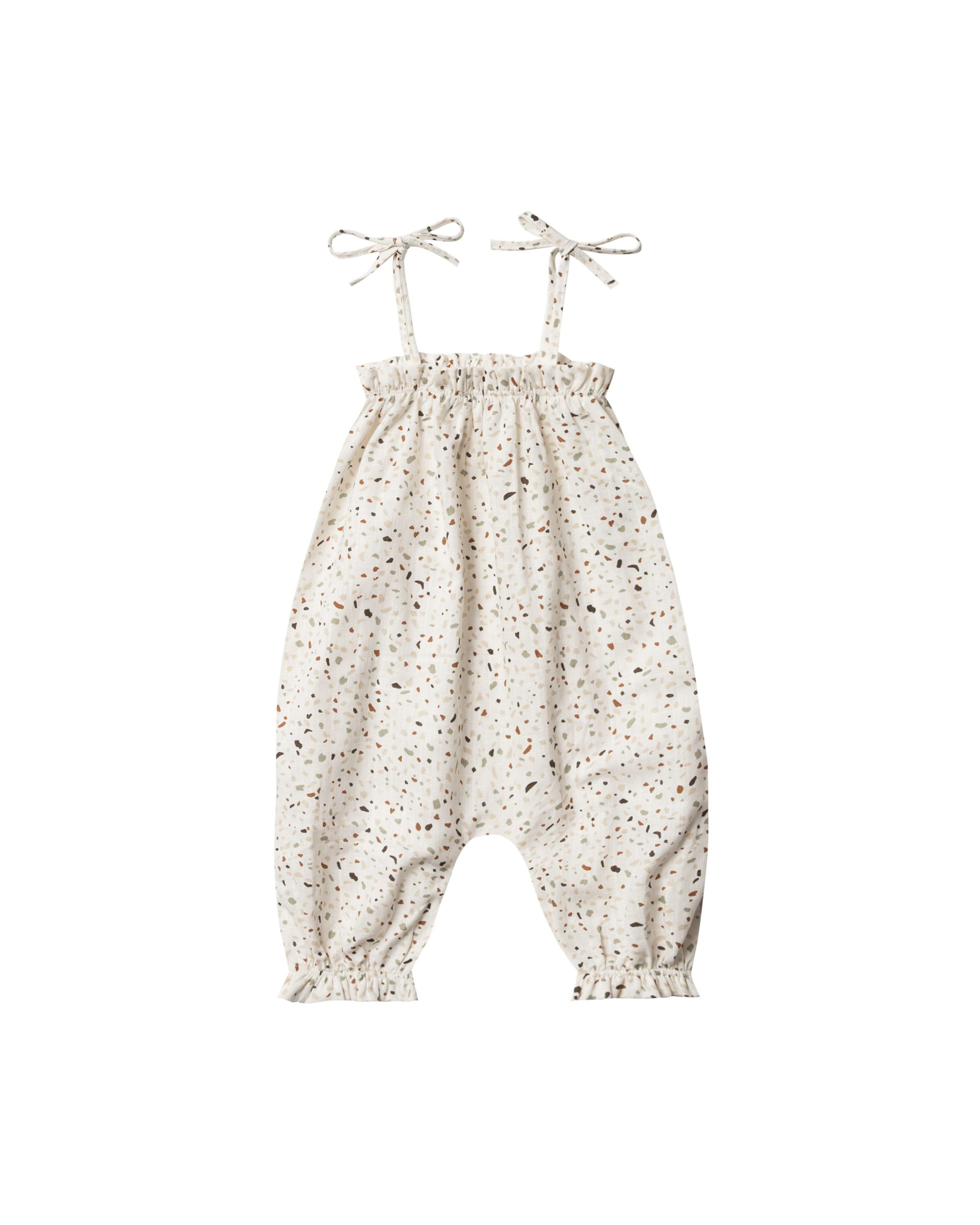 Rylee and Cru Bubble Jumpsuit Terazzo (ivory)