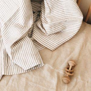 7 Pm Linen Cot Sheet (almond)
